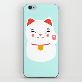 Lucky happy Japanese cat iPhone Skin