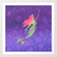 ariel Art Prints featuring Ariel  by foreverwars