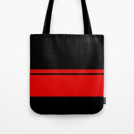 Red Racing Stripe Berlin Style Tote Bag
