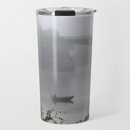 Foggy Fishing Day on the Delaware River Travel Mug