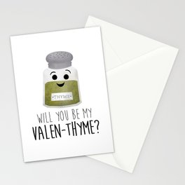 Will You Be My Valen-thyme? Stationery Cards