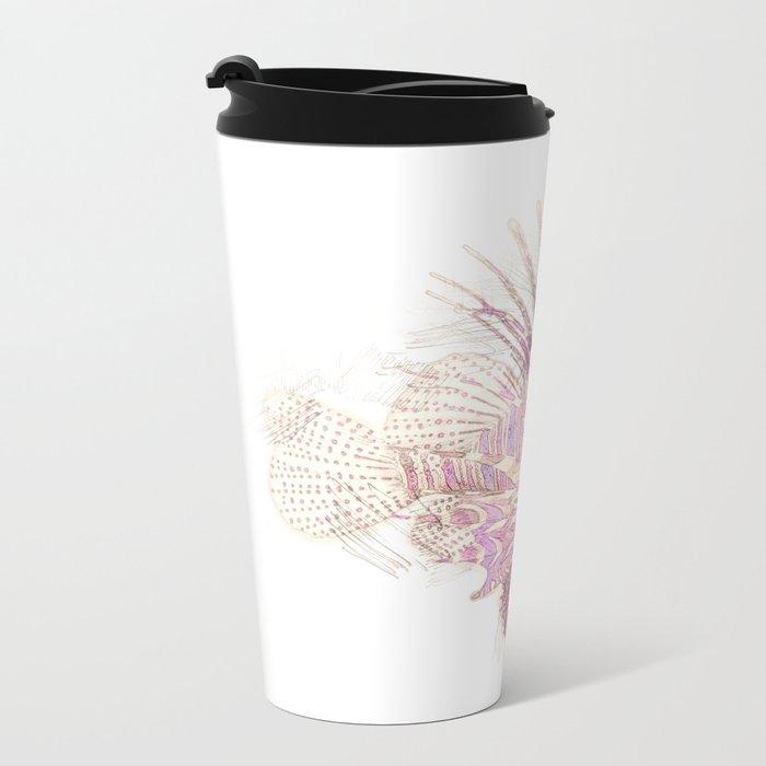 Lets draw a Lionfish Metal Travel Mug