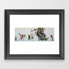 Fairy Parade Framed Art Print