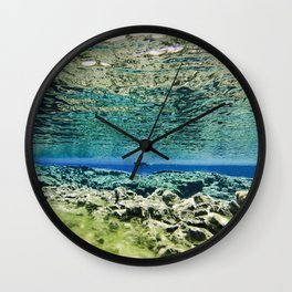 Straddling Continents Wall Clock