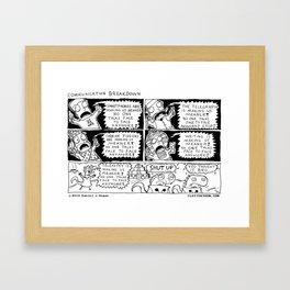 Communication Breakdown Framed Art Print