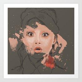 Splash portrait Art Print