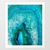 geode Art Prints featuring Geode by Jenna Davis Designs