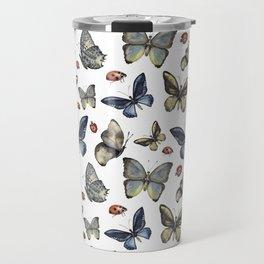 Butterfly and ladybird Travel Mug