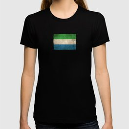 Old and Worn Distressed Vintage Flag of Sierra Leone T-shirt