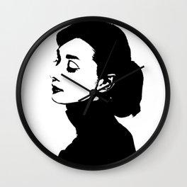 Audrey Hepburn Is Class Wall Clock