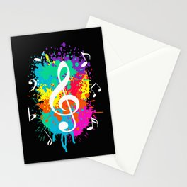 Music grunge Stationery Cards