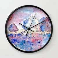country Wall Clocks featuring COUNTRY by augusta marya