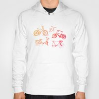 bikes Hoodies featuring summer bikes by a.gonzalez