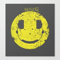paramore Canvas Prints featuring Music Smile V2 by Sitchko Igor