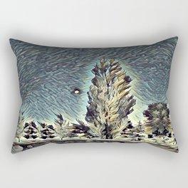 On a Moonlit Morning. Rectangular Pillow