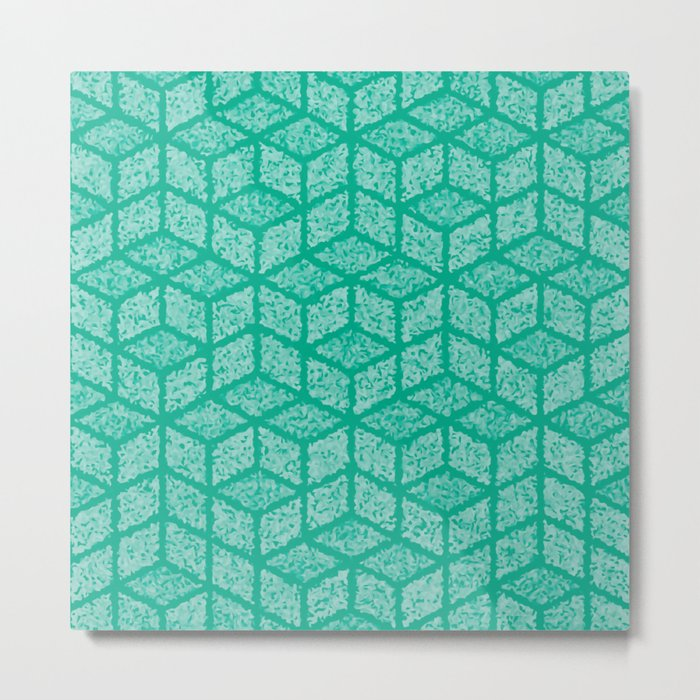 Kenna (Green) Metal Print