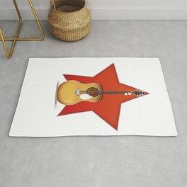 Acoustic Guitar Star Rug
