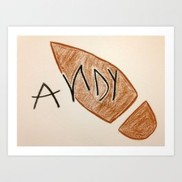 Andy Toy Story Art Print