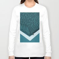 silent Long Sleeve T-shirts featuring Blue Silent by Andrea Dalla Barba