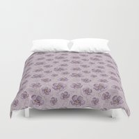 magnolia Duvet Covers featuring Magnolia by Vickn