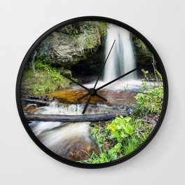 Scott Falls in Spring - Au Train Michigan Wall Clock
