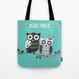 Boho Owls Tote Bag