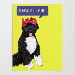 Political Pup - Regiser to Vote Poster