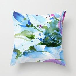 Bli-bla-blue Throw Pillow