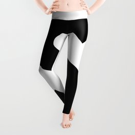 Dollar Sign (Black & White) Leggings