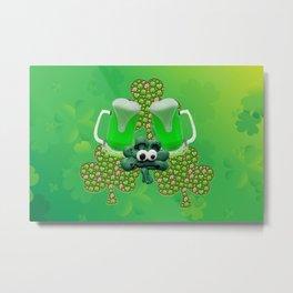 St. Patricks Day Green Beer Metal Print