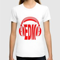 edm T-shirts featuring EDM Style Headphones by Mark