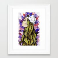 jenna kutcher Framed Art Prints featuring Jenna by NuranSeren