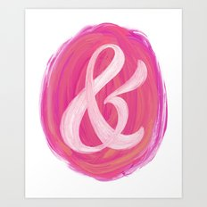 Thick Swirl Ampersand Warm Art Print