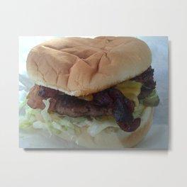 Bacon Cheeseburger Metal Print