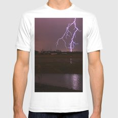 Twin Light MEDIUM White Mens Fitted Tee
