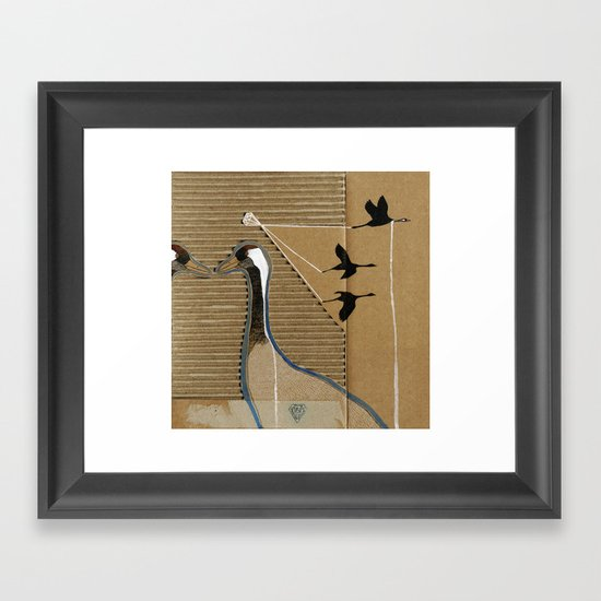turnalar (cranes) Framed Art Print