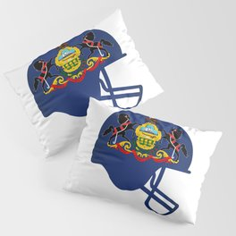 Pennsylvania State Flag Football Helmet Pillow Sham