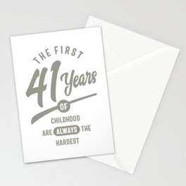 41 Years Old Birthday Gift Stationery Cards