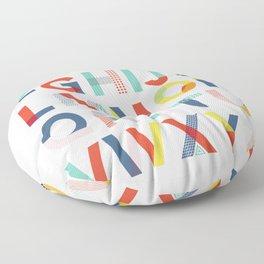 Modern Alphabet Print Floor Pillow