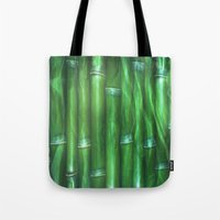 bamboo Tote Bags featuring Bamboo by Digital-Art