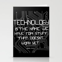 technology Stationery Cards featuring Technology by Hollie B