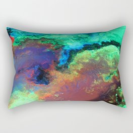"""Titan"" Mixed media on canvas, abstract art painting designs, contemporary artist colorful design Rectangular Pillow"