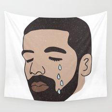 drake crying Wall Tapestry