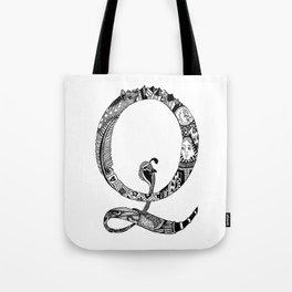 Monogram Letter Q Tote Bag