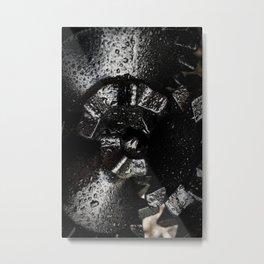 Black Tricone Drill Bit Metal Print