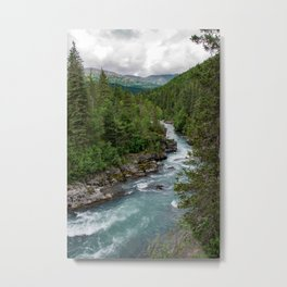 Alaska River Canyon - II Metal Print