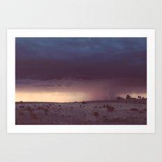 Marfa Thunderstorm Art Print