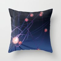 hydra Throw Pillows featuring Celestial Hydra by Ann Garrett