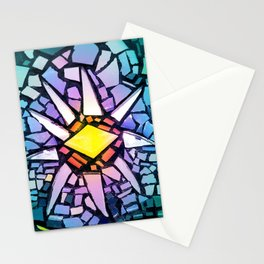 Mosaic Sun - Multicolored Tiles Stationery Cards
