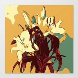 Spring is coming. Abstract vector image of beautiful lilies Canvas Print